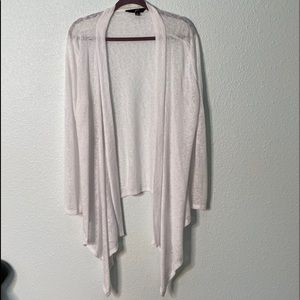 GNW White Sweater Open Face Long Sleeves Size XL